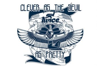 Clever as the devil buy t shirt design