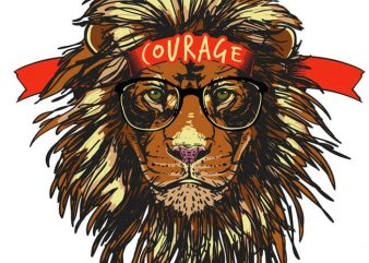 Courage t shirt vector file