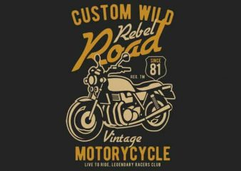Custom Wild vector t-shirt design buy t shirt design