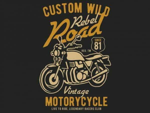 Custom Wild vector t-shirt design