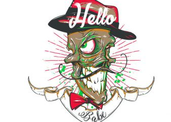 Hello babe! t shirt vector