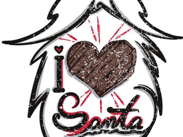 I Love Santa  600x450 - I love santa buy t shirt design