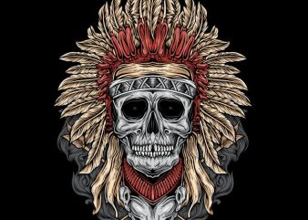 Native Skull t shirt template