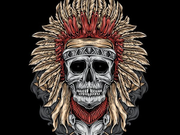 Native Skull buy t shirt design
