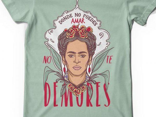 No te demores T shirt vector artwork