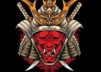 Oni Samurai t shirt design online
