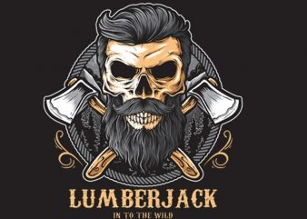Skull Lumberjack buy t shirt design