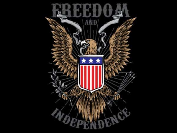 Freedom t shirt graphic design