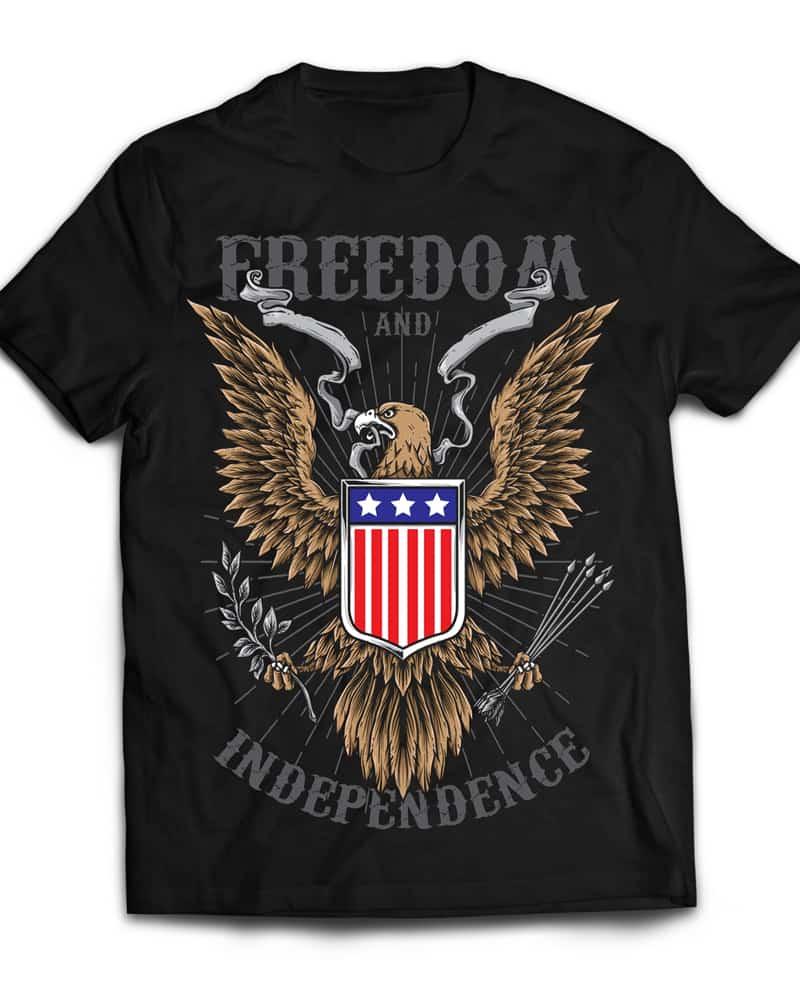Freedom buy t shirt design