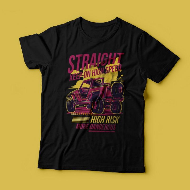 Keep Straight buy t shirt design