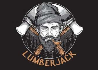 LUMBERJACK t shirt vector graphic
