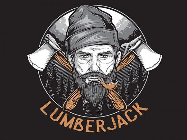 LUMBERJACK t shirt vector graphic