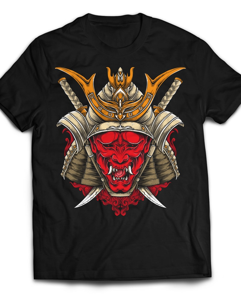 Oni Samurai buy t shirt design