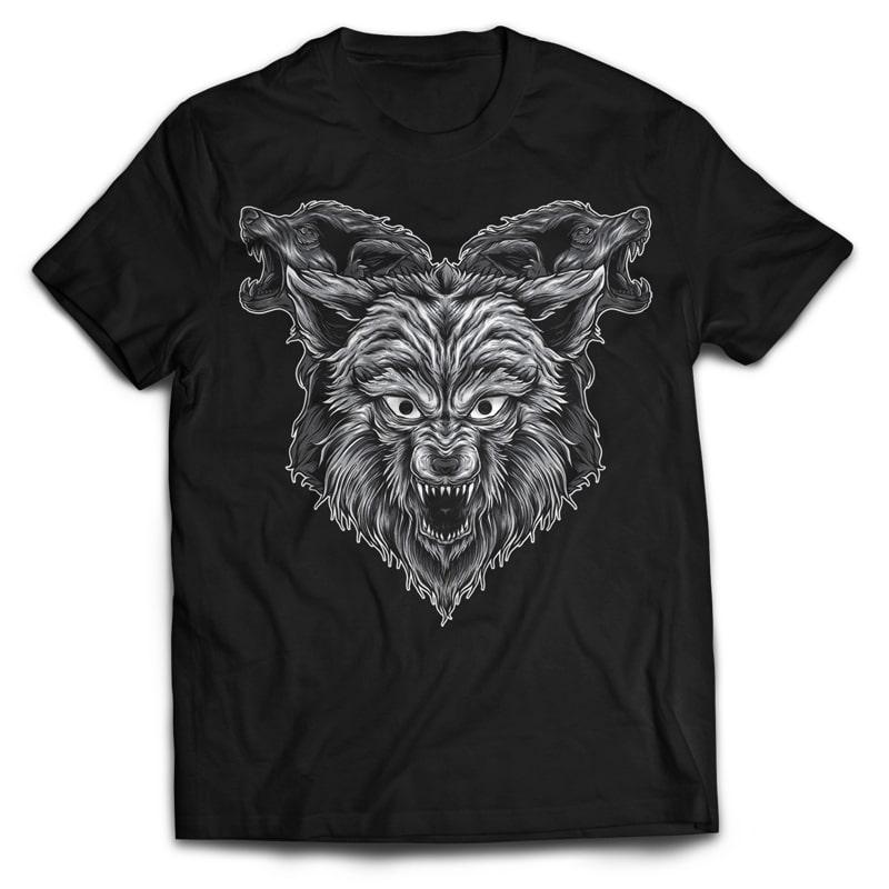 3WOLF buy t shirt design