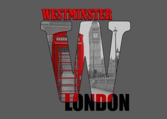 Westminster t shirt design for sale