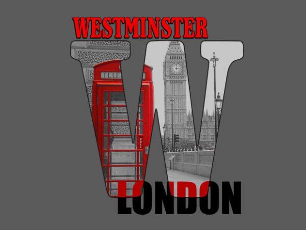 Westminster buy t shirt design