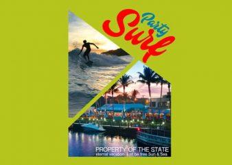 Surf Party buy t shirt design