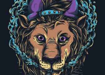 Naugthy Lion T shirt vector artwork