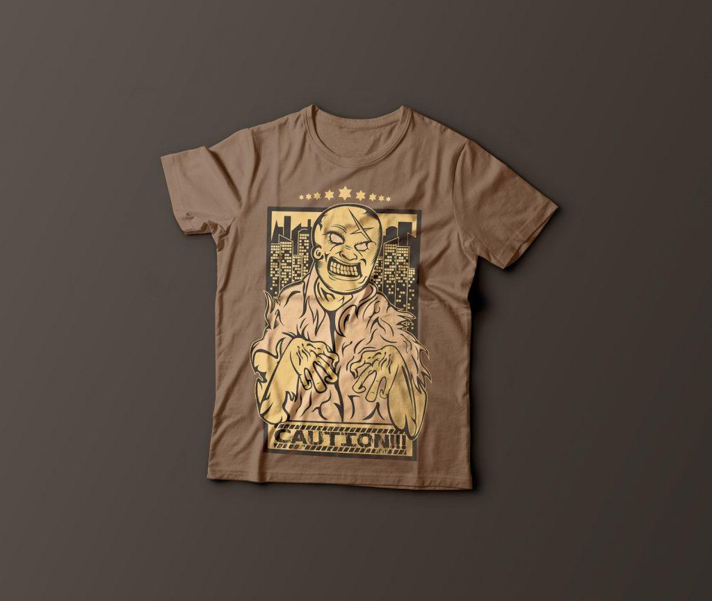Caution Zombies buy t shirt design