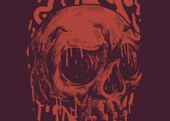 Red Head Skull t shirt design online