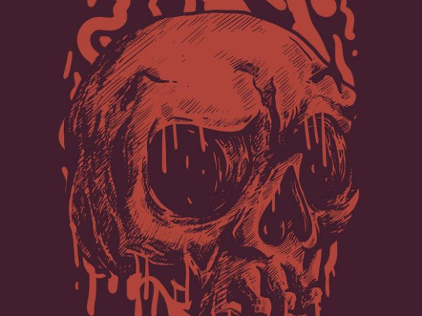 Red Head Skull buy t shirt design