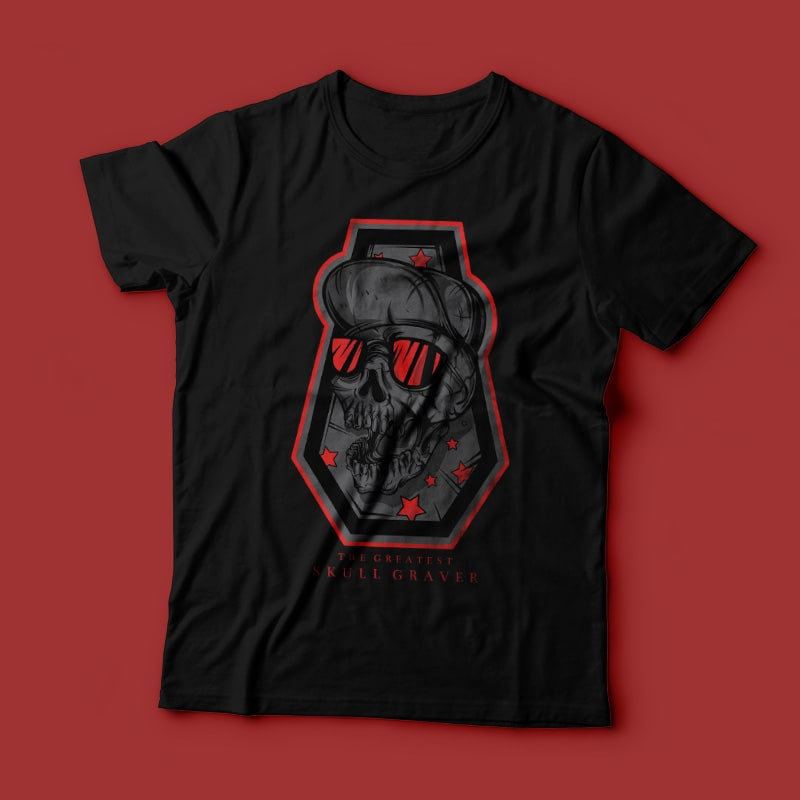 Skull Graver buy t shirt design