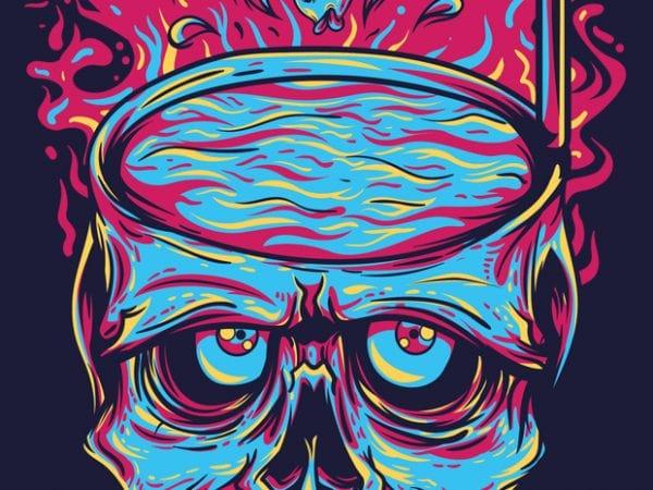 Skull Pool t shirt template vector