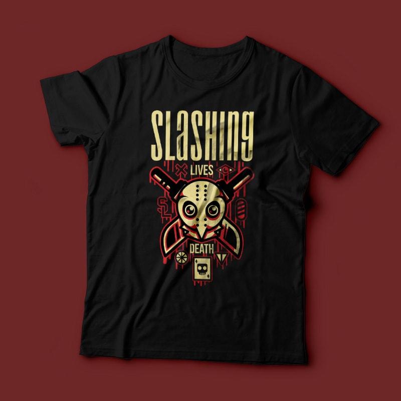 Slashing Party buy t shirt design