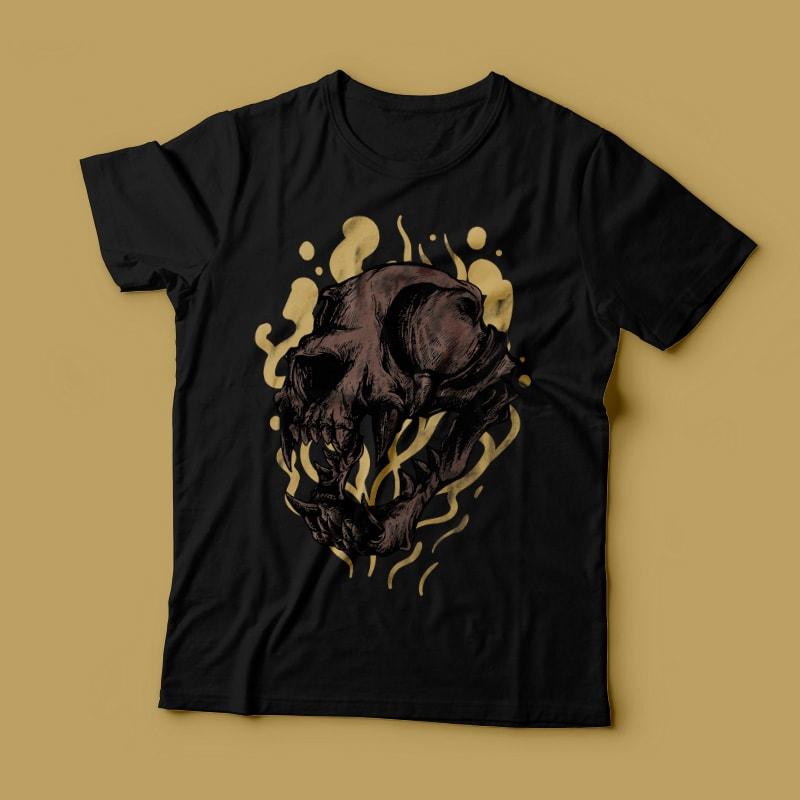 The Cat Skull buy t shirt design